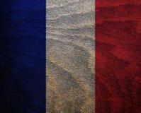 Флаг текстурированный древесиной - Франция Стоковые Изображения RF