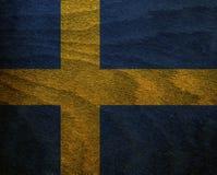 Флаг текстурированный древесиной - Швеция Стоковые Фотографии RF