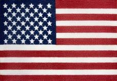 Флаг текстурированный тканью американский Стоковая Фотография