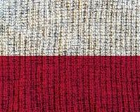 Флаг текстурированный шерстями - Польша Стоковые Изображения