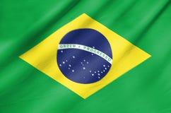 Флаг ткани Бразилии стоковое фото rf