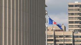 Флаг Торонто, Канада сток-видео