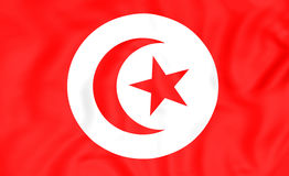флаг Тунис Стоковое Изображение RF