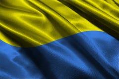 Флаг Украины, символ иллюстрации национального флага 3D Украины Стоковое фото RF