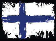 флаг Финляндии вектор изображения иллюстрации элемента конструкции Стоковое Изображение
