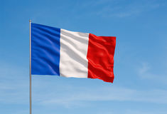 флаг Франция Стоковые Изображения