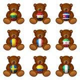 Флаг футбольного мяча медведя Стоковая Фотография
