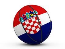 Флаг Хорватии шарика баскетбола Стоковая Фотография