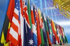Флаг церемонии открытия Стоковое Изображение RF