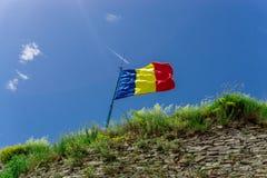 Флаг цитадели Deva, Румыния Стоковые Изображения RF