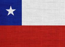 Флаг Чили на старом белье Стоковые Фото