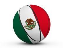 Флаг шарика баскетбола мексиканський Стоковое Изображение RF