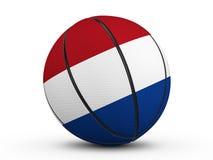 Флаг шарика баскетбола нидерландский Стоковая Фотография