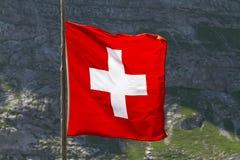 Флаг швейцарца Стоковая Фотография RF