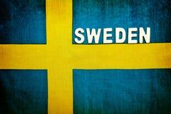 флаг Швеция Стоковые Фото