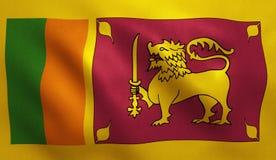 Флаг Шри-Ланка стоковые изображения