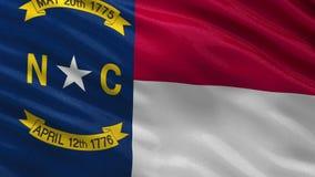 Флаг штата США Северной Каролины - безшовной петли иллюстрация вектора