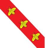 Флаг Эльбы острова с Стоковая Фотография