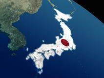 Флаг Японии от космоса Стоковое Изображение RF
