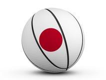 Флаг Японии шарика баскетбола Стоковая Фотография