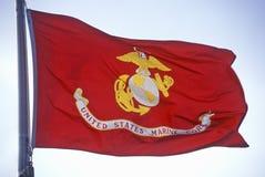 Флаг для морской пехот США Стоковые Фото