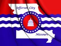 флаг 3D Jefferson City, Миссури Стоковые Фотографии RF