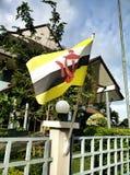 флаг darussalam brunei Стоковое Изображение RF