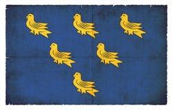 Флаг Grunge Сассекс Великобритании иллюстрация штока