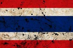 Флаг grunge Таиланда пакостный старый Стоковые Изображения