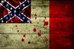 Флаг Grunge Confederacy (3) Стоковое Изображение