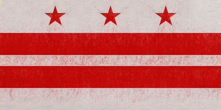 Флаг Grunge DC Вашингтона Стоковая Фотография RF