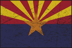 Флаг Grunged Аризоны Стоковая Фотография RF