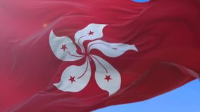 флаг Hong Kong видеоматериал