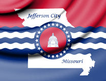 Флаг Jefferson City, Миссури США Стоковые Изображения