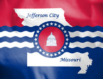 Флаг Jefferson City, Миссури США Стоковые Изображения RF