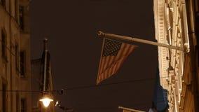 Флаг 4K UHD США американский видеоматериал