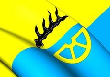 Флаг Kreis Tuttlingen, Германии Стоковое Изображение