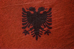 Флаг od Албания Стоковое Изображение RF
