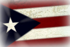 Флаг Puerto Rican Стоковое Изображение