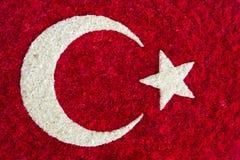Флаг Turkish сделанный из цветков иллюстрация штока
