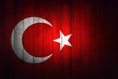 Флаг Turkish, Турция, дизайн флага Стоковые Фото