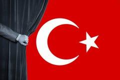 Флаг Turkish, Турция, дизайн флага Стоковое Изображение RF