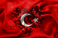 Флаг Turkish, Турция, дизайн флага Стоковая Фотография