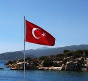 Флаг Turkish Стоковое Фото