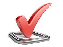 Флажок с красной контрольной пометкой Стоковое Изображение RF