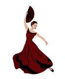 Фламенко танцев молодой женщины Стоковые Изображения