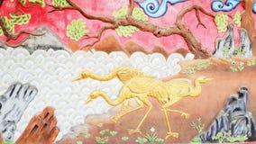 Фламинго барельеф в парке Стоковая Фотография