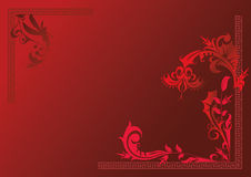Флора красного цвета предпосылки Стоковые Изображения