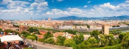 Флоренс, ИТАЛИЯ 11-ое сентября 2016: Панорама города Флоренса, Италии Стоковые Фотографии RF