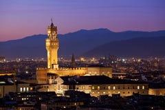 Флоренс на сумерк от Piazzale Микеланджело (Тосканы, Италии) Стоковая Фотография RF